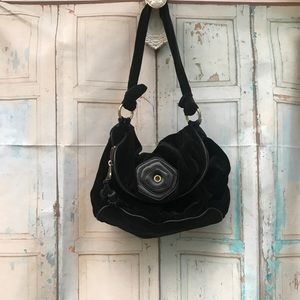 Marc Jacobs velvet shoulder bag